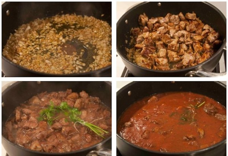 Χουνκιάρ μπεγεντί: κοκκινιστό κρέας