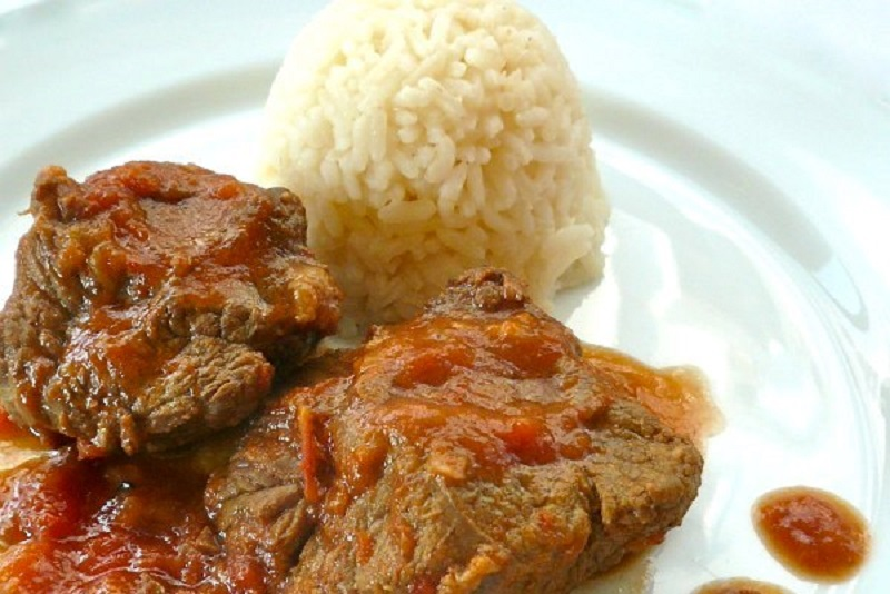 braised veal with red sauce: too good to be taken for granted