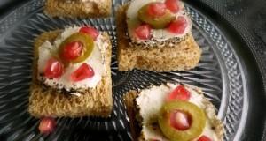 μπουκιές με κατσικίσιο τυρί και ρόδι
