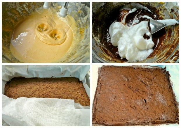 τούρτα μόκα σοκολάτα - παντεσπάνι σουφλέ 2