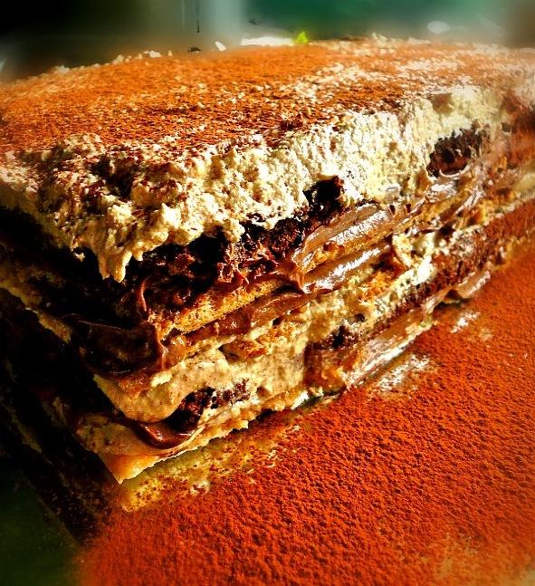 τούρτα μόκα σοκολάτα με 12 στρώσεις