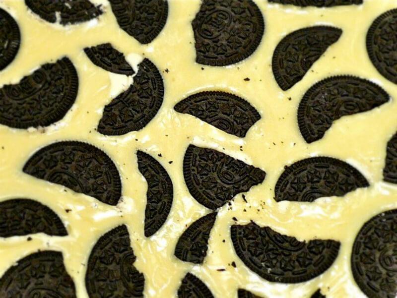 Εξαρτησιογόνο fudge με oreo και άσπρη σοκολάτα