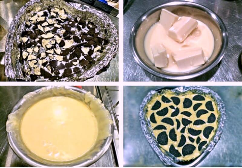 Κάνοντας το fudge με oreo και άσπρη σοκολάτα