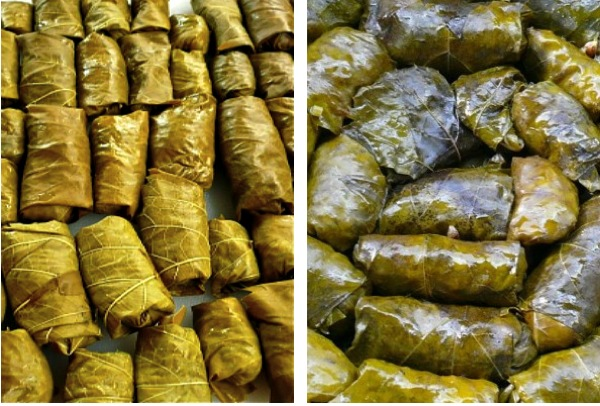 small dolmades stuffed with rice