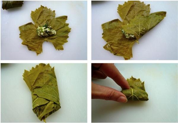 ντολμαδάκια γιαλαντζί μικρά - πως τυλίγονται