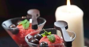 πικάντικο σορμπέ με φράουλες και τσίλι