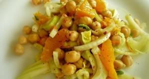 ρεβίθια με φινόκιο και πορτοκάλι