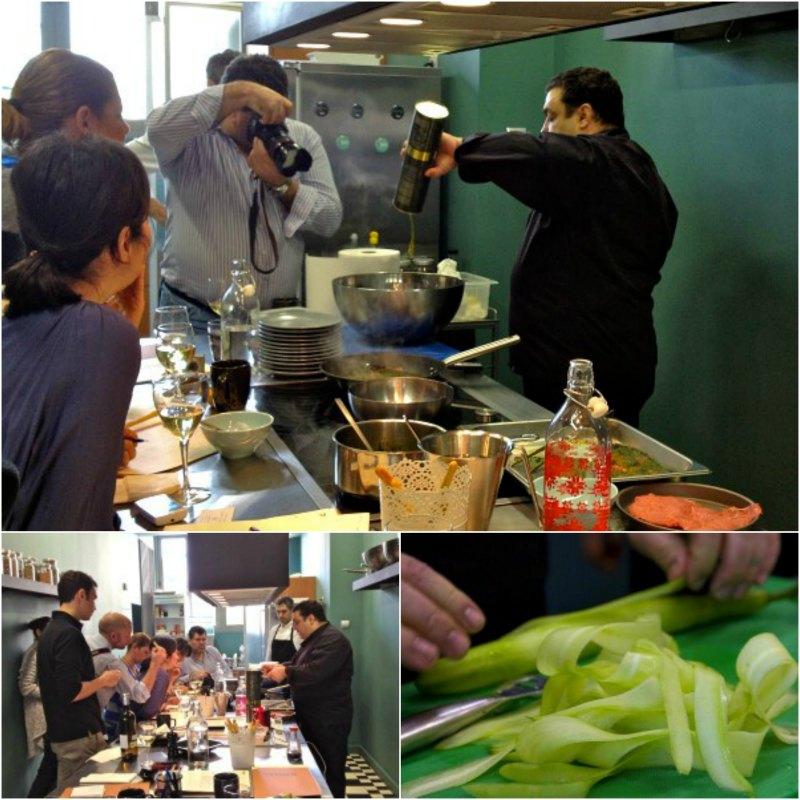 Χριστόφορος Πέσκιας μαγειρεύοντας, Greekadaman φωτογραφίζοντας και fellow bloggers