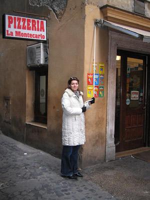 pizza-la-Montecarlo - Rome