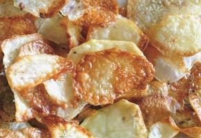 τσιπς πατατάκια στο φούρνο