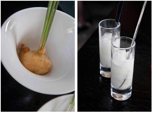 funky gourmet: mylokopi tempura (left) & granita horiatikis salatas