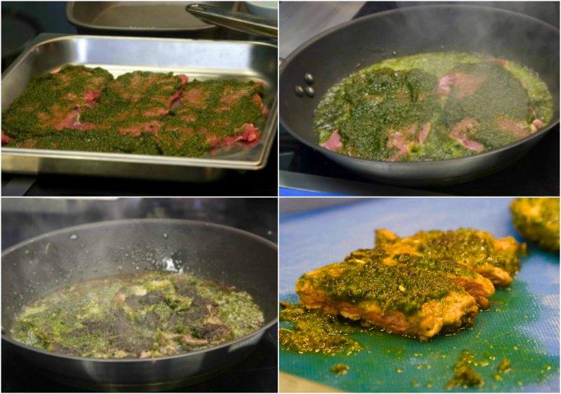 μπριζόλα με πικάντικη αρωματική σάλτσα