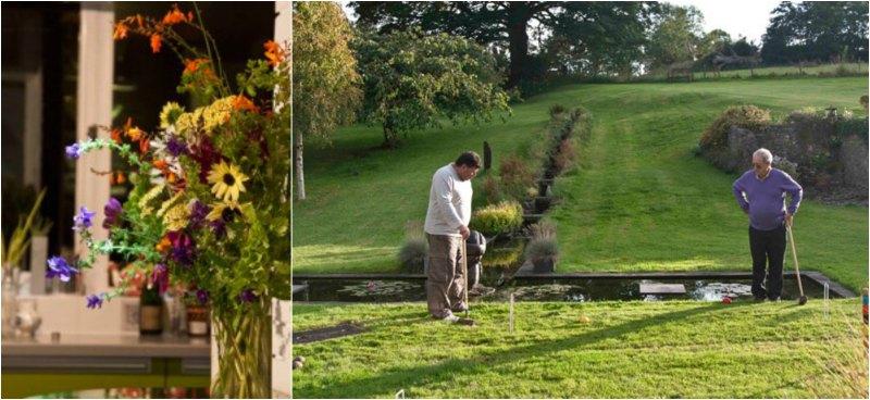 Ουαλία -λουλούδια και croquet στον κήπο