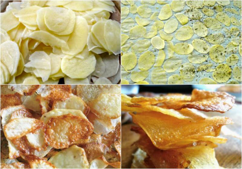 Πως κάνουμε σπιτικά, τραγανά τσιπς πατατάκια στο φούρνο