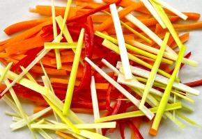 σολομός ψητός στο χαρτί - στη λαδόκολλα: λαχανικά ζουλιέν