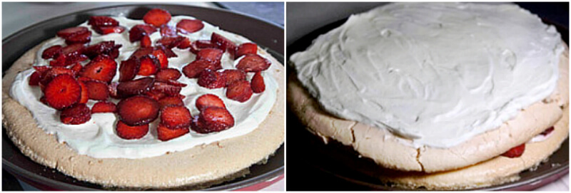 classic strawberry pavlova and homemade meringue without cornflour step by step