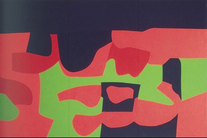 Αlberto Burri, Athens Polyptych: Architecture and Cactus No 10, 250X360 cm, 1992