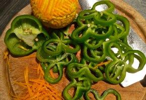συκώτι με πιπεριές και πορτοκάλι