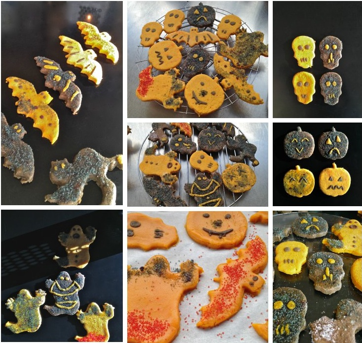 Trick-or-treat? spooky biscuits for halloween