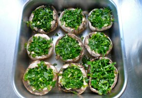 baking stuffed mushrooms in the oven
