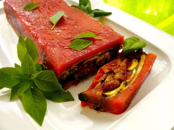 κόκκινη τερίν με ψητά λαχανικά