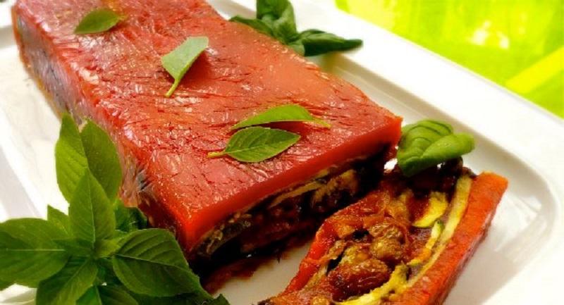 κόκκινη τερίν με ψητά λαχανικά: όλος ο χρόνος καλοκαίρι