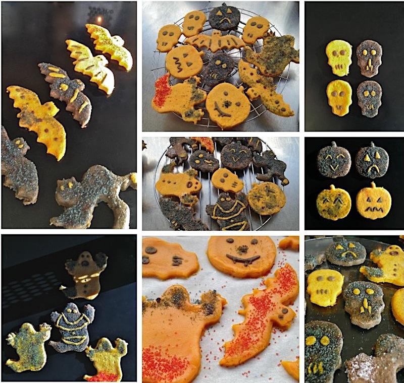 Trick-or-treat? spooky μπισκοτάκια με μέλι και αστραφτερή ζάχαρη