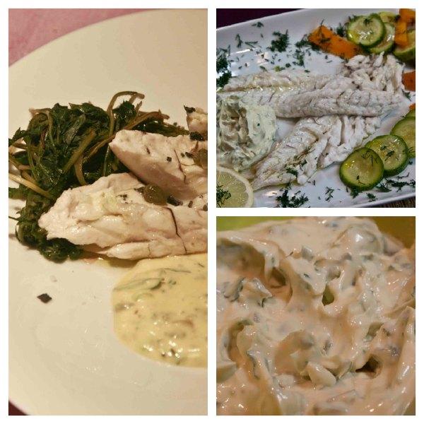 Salt-baked fish (sea bass) with an ancient Greek recipe