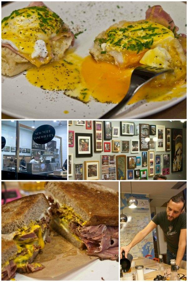 Eggs Benedict in New York Sandwiches
