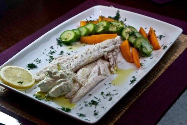 Salt-baked fish (sea bass) with an ancient Greek recipe