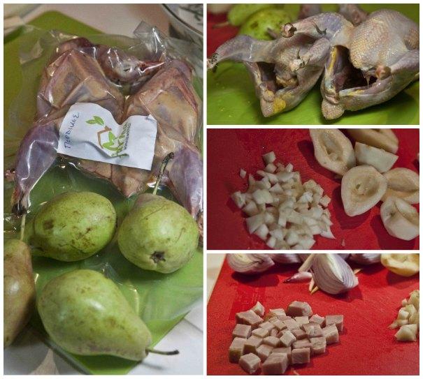 πέρδικες με αχλάδι