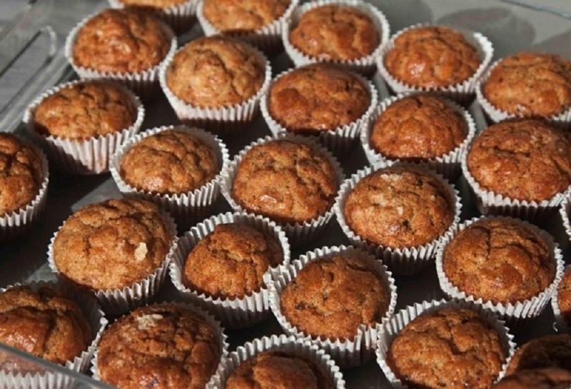 αλμυρά muffins: μπουκιές  με πορτσίνι