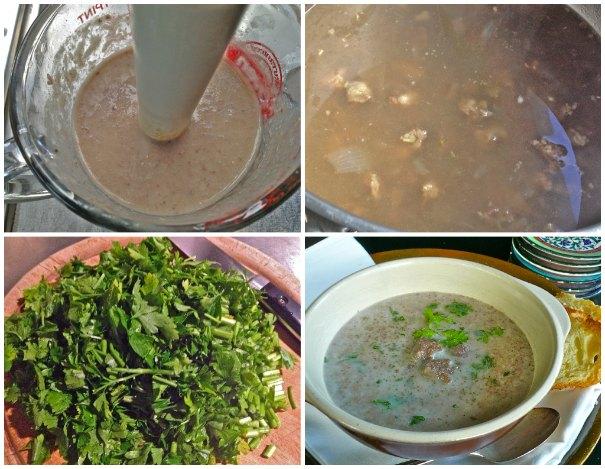 κρεατόσουπα από μάγουλο, αρωματισμένη με κάρδαμο - σούπα με μοσχάρι