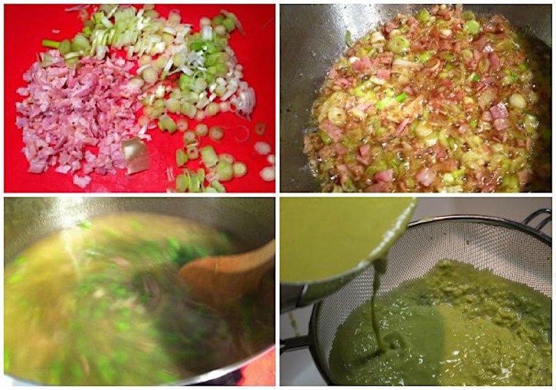 σούπα αρακά με μπέικον και μέντα - χειμωνιάτικες σούπες - εύκολη σούπα αρακά - σούπα σεν ζερμέν
