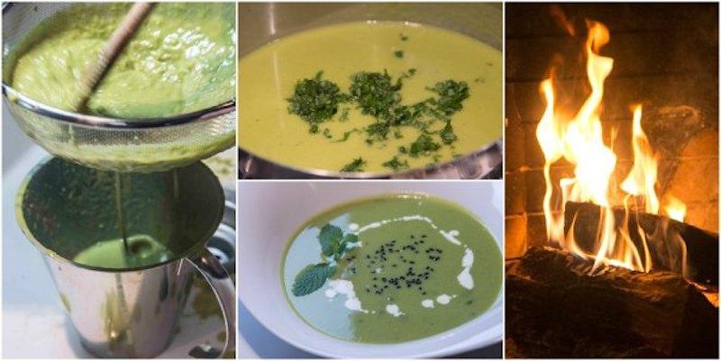 σούπα με αρακά, μπέικον και μέντα - χειμωνιάτικες σούπες - εύκολη σούπα αρακά - σούπα σεν ζερμέν