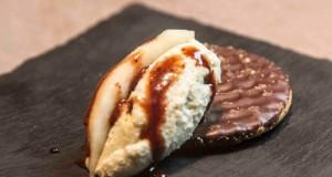 στίλτον σε σοκολατένια μπισκότα