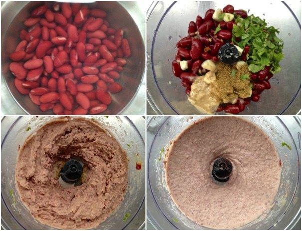 Εύκολο χούμους με κόκκινα φασόλια