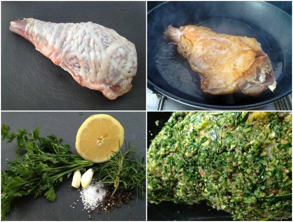 ετοιμάζοντας κατσικάκι σε κρούστα αρωματικών ψητό στο φούρνο