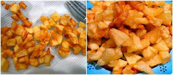 τηγανητές πατάτες-ζάρια
