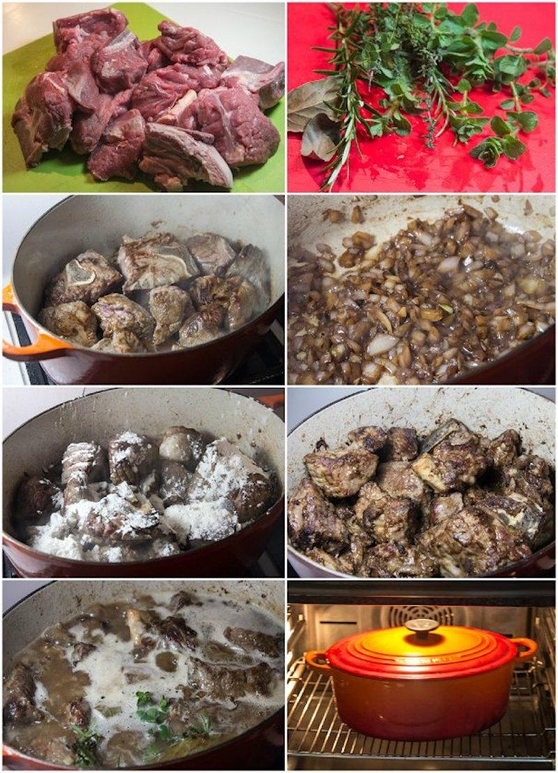 Ετοιμάζοντας μοσχαρίσια ελιά αρλεζιέν - γαλλική συνταγή της Προβηγκίας