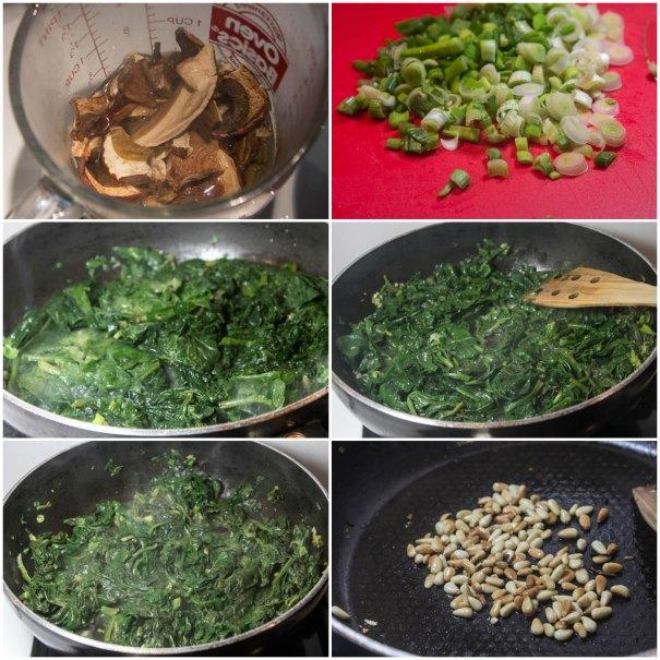 λαζάνια vegetarian τρικολόρε: πορτσίνι, σπανάκι, κουκουνάρι