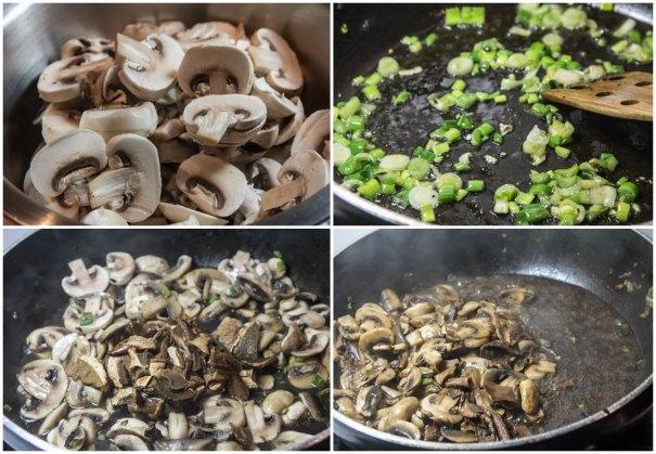 λαζάνια vegetarian τρικολόρε: μανιτάρια