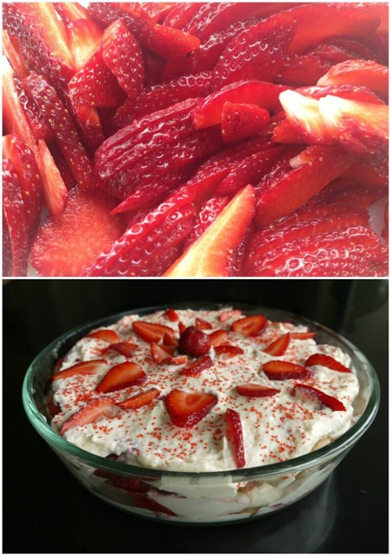 τιραμισού με φράουλες - τιραμιφρεζιέ