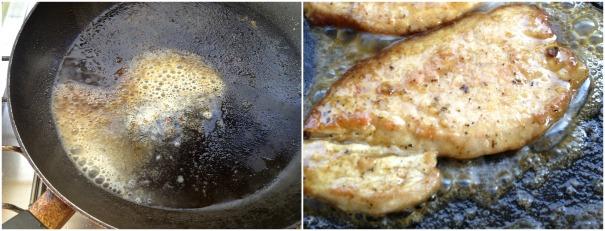 ολοκληρώνουμε τα σκαλοπίνια στη σάλτσα με λεμόνι
