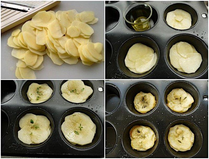 αρωματικές πατάτες-μάφιν