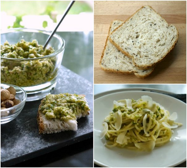 pesto with zucchini and walnut for pasta