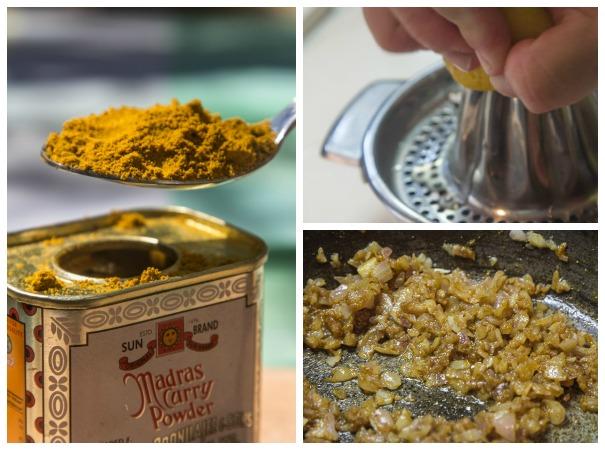 coronation chicken - curry sauce