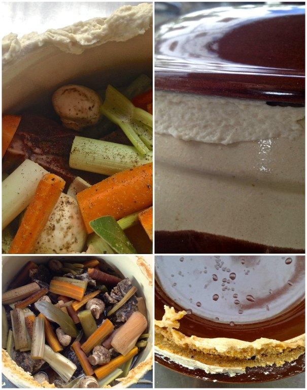 μοσχάρι στη γάστρα με λαχανικά