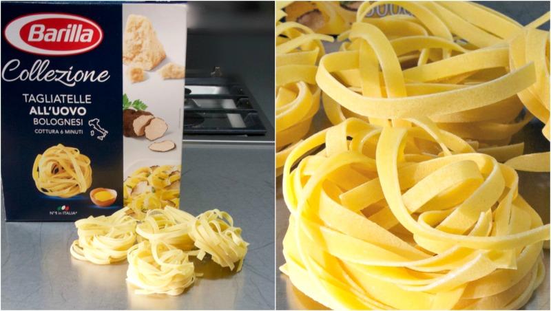 ταλιατέλες με θαλασσινά - tagliatelle all uovo Barilla