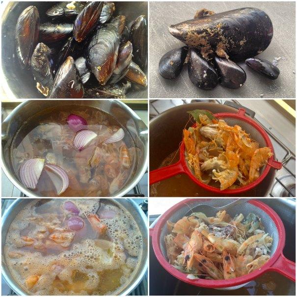ταλιατέλες με θαλασσινά - με μύδια και γαρίδες